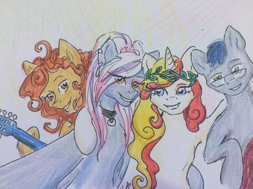 Przewalski's Ponies 2017; kresba: Velvet R. Wings