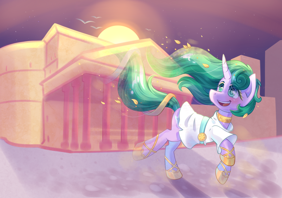 Ancient Mistmane; art by PatchNpaw.