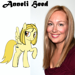 Anneli Heed with her MLP OC